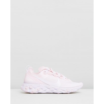 React Element 55 - Women's Pale Pink & White by Nike