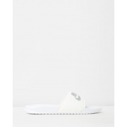 Benassi JDI Slides - Women's White by Nike