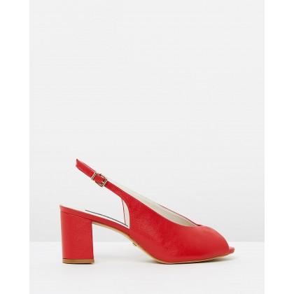 Avalyn Heels Soft Red by Nina Armando