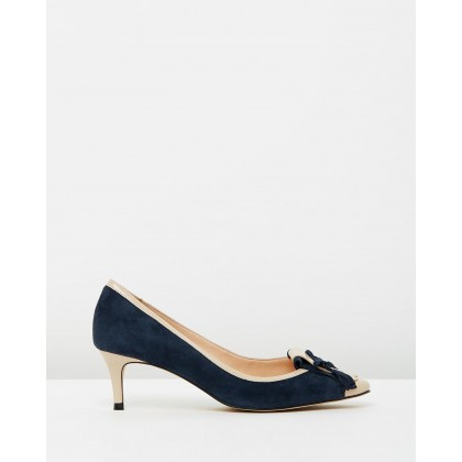 Winnie Navy Suede With Nude Patent by Nina Armando