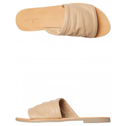 Thea Leather Slide Nude By URGE