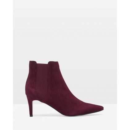 Luella Leather Ankle Boots Wine Red by Oxford