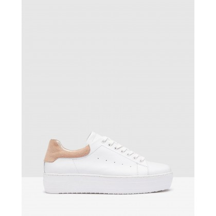 Cara Sneakers White/Blush by Oxford