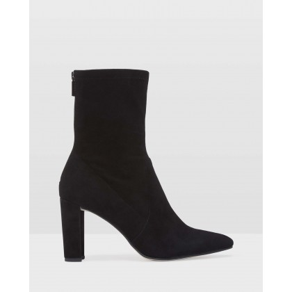 Imogen Suede Sock Boots Black by Oxford