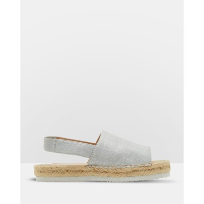 Tilly Canvas Espadrilles Grey by Oxford