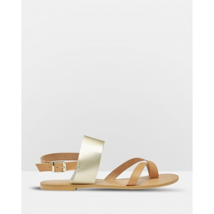 Laura Leather Sandals Pink by Oxford