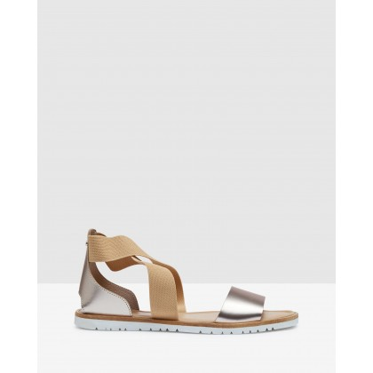 Charlotte Sandals Gold/Tan by Oxford