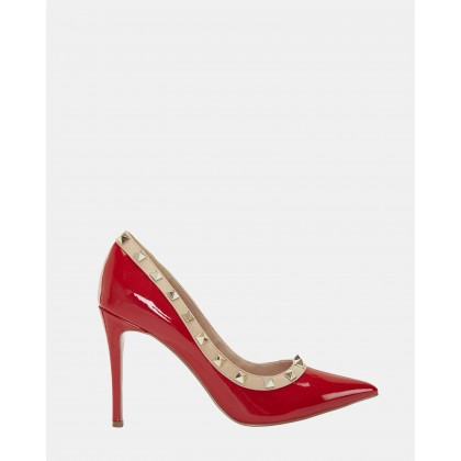 Sierra RED PATENT/NUDE by Pink Inc