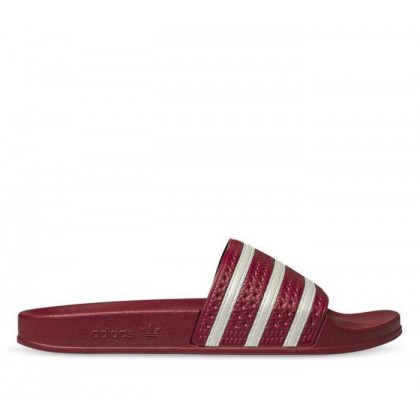 Adilette Slides Collegiate Burgundy/Ftwr White/Collegiate Burgundy