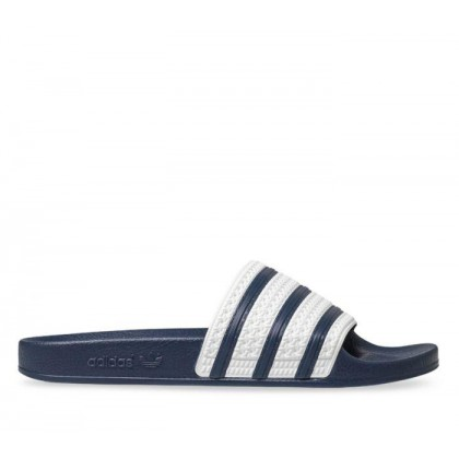 Adilette Slides White Blue