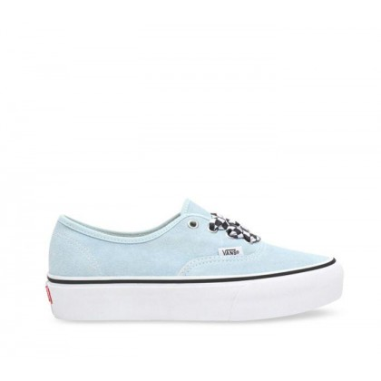 Authetnic Platform 2.0 Cool Blue (Checkerboard Lace) Cool Blue/True White