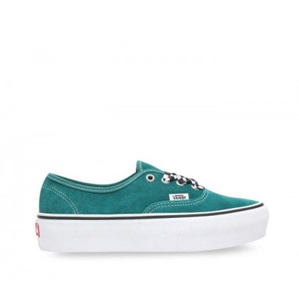 Authetnic Platform 2.0 Quetzal Green (Checkerboard Lace) Quetzal Green/True White