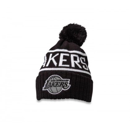 B&W Lakers Beanie Black