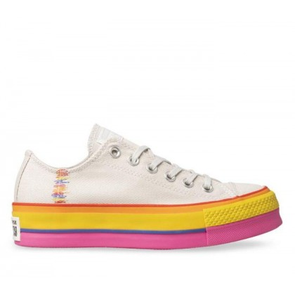 CT All Star Dainty Rainbow Lift Lo Vintage White/Pale Putty/Vintage White