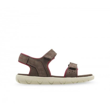 Kid's Nubble Sandal Dark Brown Nubuck