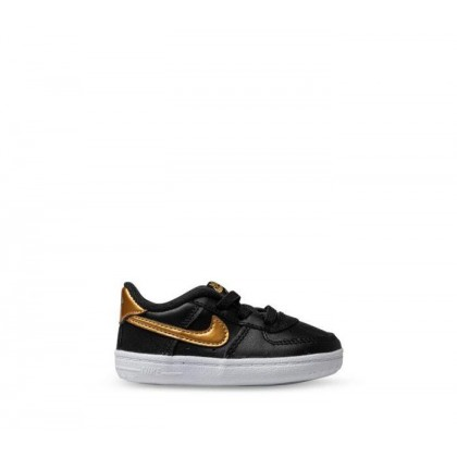 Kids Infant Air Force 1 Bootie Black/Metallic Gold-White