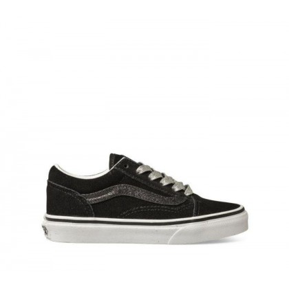 Kids Old Skool Glitter (Glitter Sidestripe) Black/True White