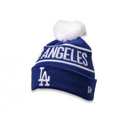 LA Dodgers Pom Knit Beanie Dk Royal