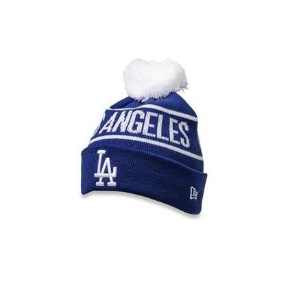 LA Dodgers Pom Knit Beanie