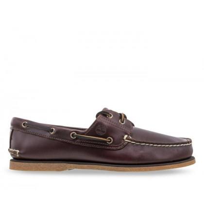 Men's 2-Eye Boat Shoe Medium Brown Full-Grain