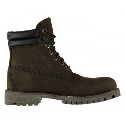 Men's 6-Inch Double Collar Boot Dark Chocolate Nubuck