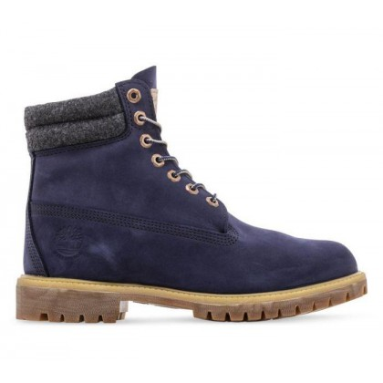 Men's 6-Inch Double Collar Boot Navy Nubuck