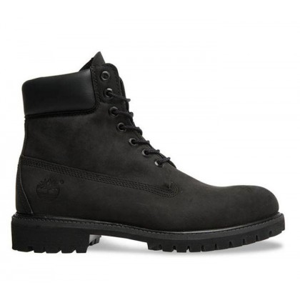 Men's 6-Inch Premium Waterproof Boot Black Nubuck