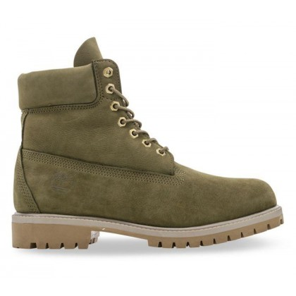 Men's 6-Inch Premium Waterproof Boot Olive Nubuck