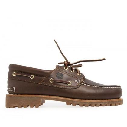 Men's Authentics 3-Eye Classic Boat Shoe Medium Brown Nubuck