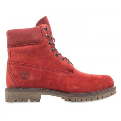 Men's Timberland? Heritage 6-Inch Waterproof Boots Dark Red Nubuck