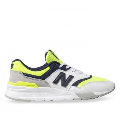 Mens 997H White/Black/Yellow