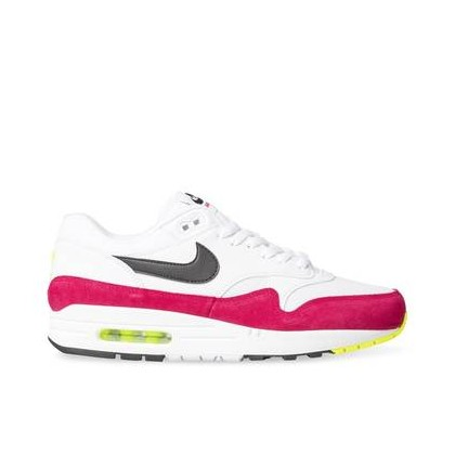 Mens Air Max 1 White/Black-Volt-Rush Pink