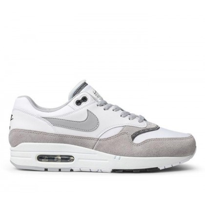 Mens Air Max 1 White/Wolf Grey-Black