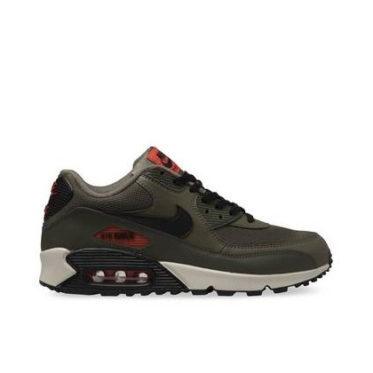 Mens Air Max 90 Essential Medium Olive/Black-Team Orange