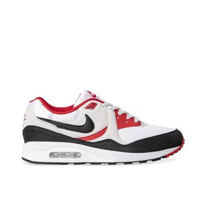 Mens Air Max Light White/Black-Vast Grey-University Red