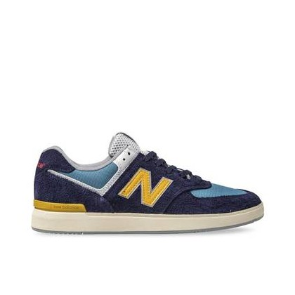 Mens All Coasts 574 Hairy Suede Navy/Golden