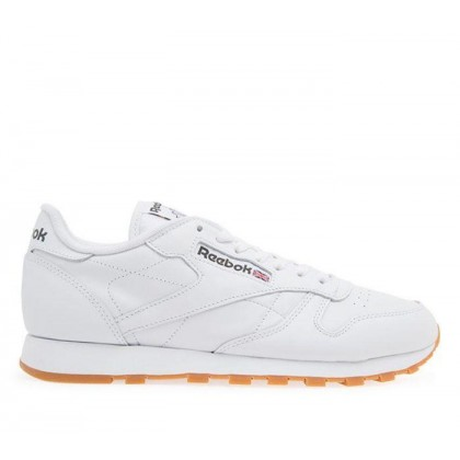 Mens Classic Leather INT-White/Gum