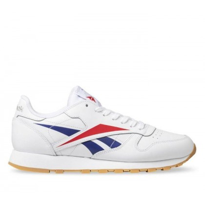 Mens Classic Leather Vector White/Scarlet/True Grey 3