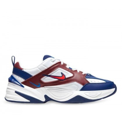 Mens M2K Tekno White/Bright Crimson-Team Red