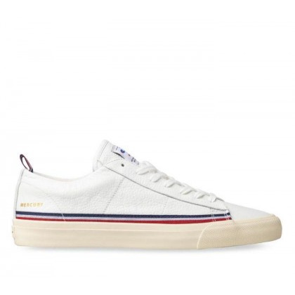 Mens Mercury Low Leather White