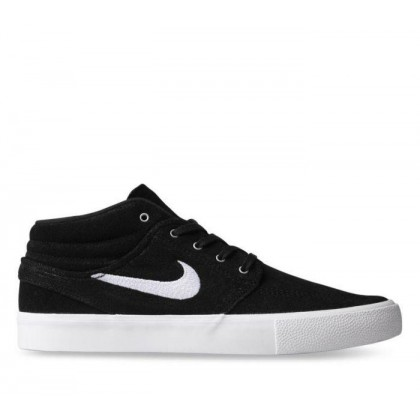 Mens SB Zoom Janoski Mid Black/White-Gum Light Brown