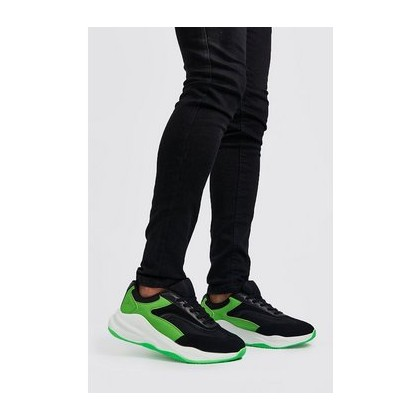 Neon Sole Chunky Trainer in Neon-Green
