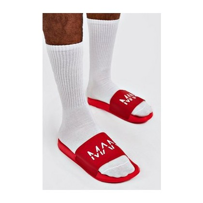 MAN Dash Sliders in Red