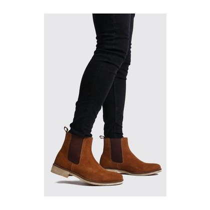 Real Suede Chelsea Boot in Tan