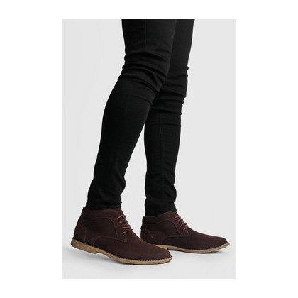 Real Suede Desert Boots in Brown