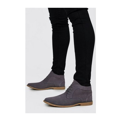 Real Suede Desert Boots in Grey
