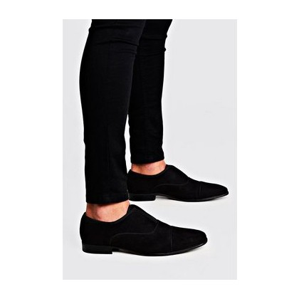 Velvet Slip On Formals in Black