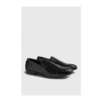 Party Sequin Loafers in Silver
