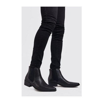 Western Chelsea Boot in Black