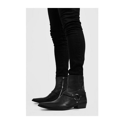 Harness Detail Western Boot in Black